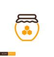 jar with honey icon vector image