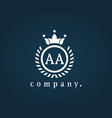 letter aa wreath monogram emblem logo