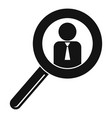 man magnify glass icon simple style vector image vector image
