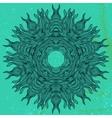 Mandala design in black on aqua green vector image vector image