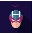 Mask superhero burgundy strict hero to flat design
