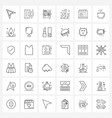 mobile ui line icon set 36 modern pictograms vector image vector image