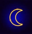 moon neon sign vector image