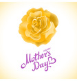 Mothers day design over yellow rose background vector image