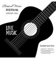 music banner with acoustic guitar for the concert vector image vector image