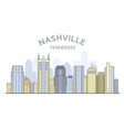 nashville cityscape tennessee - city panorama of vector image vector image