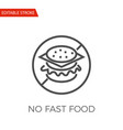 no fast food icon vector image