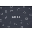 Office Thin Line Icons vector image