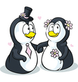 Penguins in love - isolated on white backgro vector image vector image