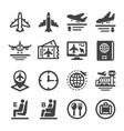 plane icon set vector image