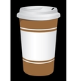 Plastic coffee cup with hot vector image vector image