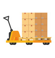 pushcart with box vector image