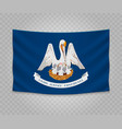 realistic hanging flag vector image vector image