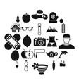 recovery of health icons set simple style vector image vector image