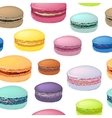 Seamless pattern with colorful macaroon cookies vector image vector image