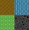 Seamless patterns Set 7 Abstract colorful vector image vector image