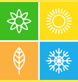 seasons - winter spring summer and autumn vector image vector image