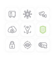 security line icons set vector image vector image