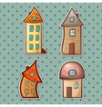 set houses vector image