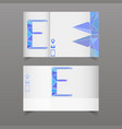 set of two business card with letter e separated vector image