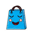 shopping bag character kawaii style vector image