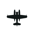 simple black Float Plane icon on white background vector image