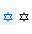 star of david jewish icon israel jew david vector image vector image