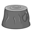 Stump icon black monochrome style vector image vector image