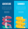 summer adventure flyers with water slide vector image