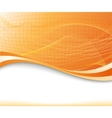 sunburst background in orange color textured vector image vector image