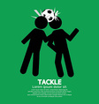 Tackle Soccer Sign vector image vector image