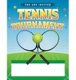 Tennis Tournament Flyer vector image vector image