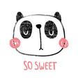 textured panda vector image vector image