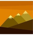 three mountains with snow vector image