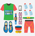 Top View Of Males Runner Gears vector image vector image