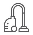 vacuum cleaner line icon household and electric vector image