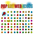 web icons in pop art vector image vector image