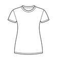 White t-shirt design template