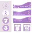 world prematurity day banners posters and badges vector image vector image