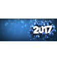 2017 New Year blue banner vector image