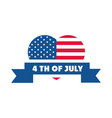 4th july independence day american flag shaped vector image