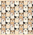 animal seamless dog pattern pug cartoon vector image vector image