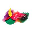 artistic watercolor diwali background design vector image vector image