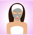 beautiful woman with mask for perfect skin vector image