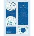 blue forest vertical frame pattern vector image vector image
