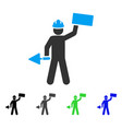 brickwork builder flat icon vector image vector image
