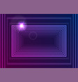 bright neon glowing rectangle frame abstract vector image vector image