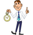 businessman and clock vector image