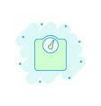 cartoon bathroom scale weigher icon in comic vector image vector image