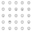 Circle face icons with reflect on white background vector image